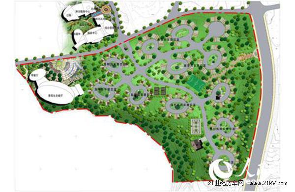 2016年三岔河国际露营地房车营地规划图