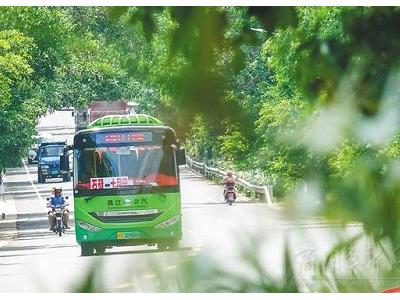 绿色出行!昌江56辆新能源公交服务城乡交通