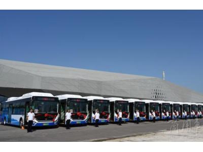 """政府惠民公交先行!烟台40辆""""升级版""""新能源空调公交车上线啦"""