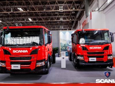 全新一代斯堪尼亚消防车专用底盘亮相北京消防展