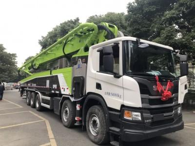 全球最长法规型67米泵车交付&首秀