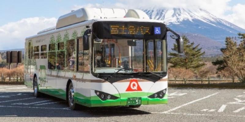 """日本""""圣岳""""富士山迎来首批纯电动大巴 比亚迪助力山梨县实现出行电动化"""