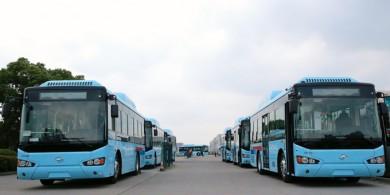 199辆苏州金龙海格天然气公交陆续奔赴重庆