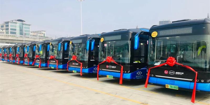 领航新时代绿色公交 首批全新比亚迪纯电动客车投运深圳