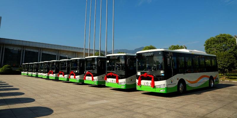 让城市更智慧!金旅纯电公交集中交付宁德