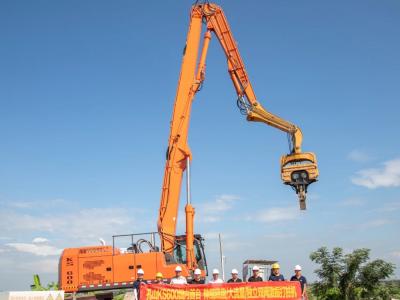 搭载FPT C13发动机,孔山KS600新款高效液压打桩机上市