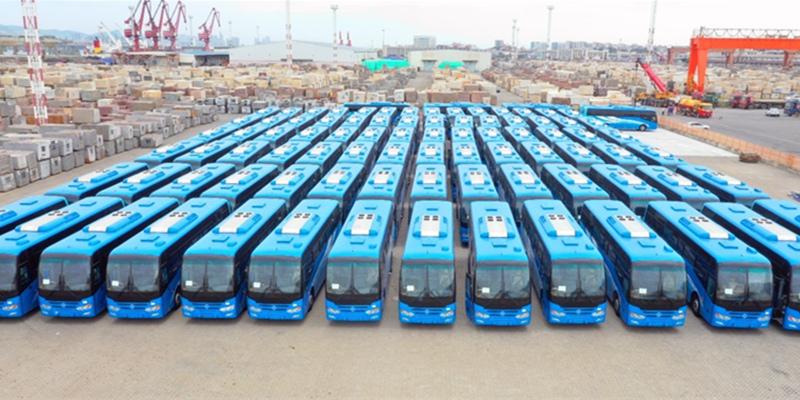 金旅客车再传捷报 120台金旅校车奔赴加纳