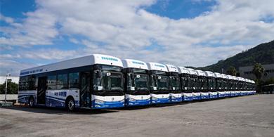 金旅批量交付山西和浙江氢燃料电池公交订单